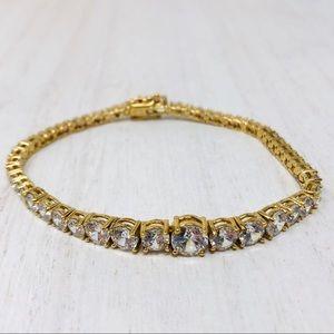 🆕 looks so real, sterling/gold overlay bracelet